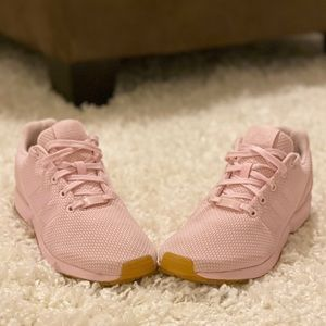 Pink Adidas ZX Flux Sneakers